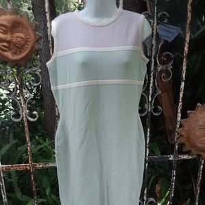 St John by Marie gray sleeveless dress size 8